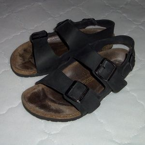 Birkenstock black leather sandals L8M6 39